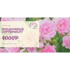 Сертификат 4000